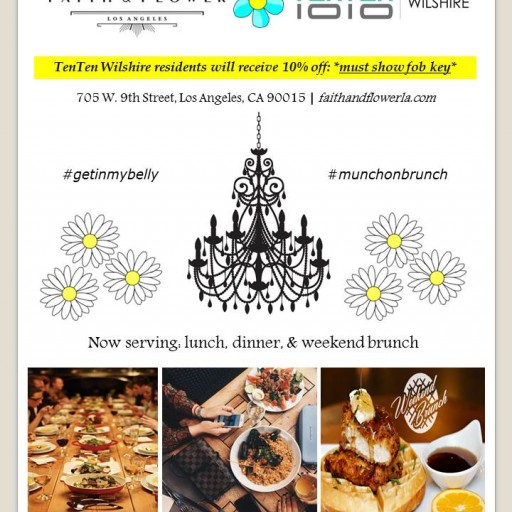 TENTEN Wilshire Downtown Lifestyle: 10% Off Faith & Flower
