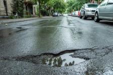 Rain-Filled Pothole