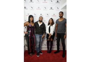 Producers Alain Sajous; Lynn K. Hobson; and Emazing Smith with Angela Yee
