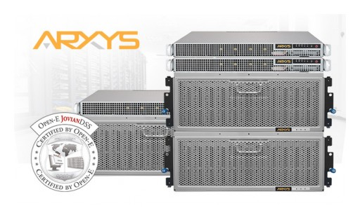 Arxys Shield-Prime & Core Storage Certified With Open-E JovianDSS Data Storage Software