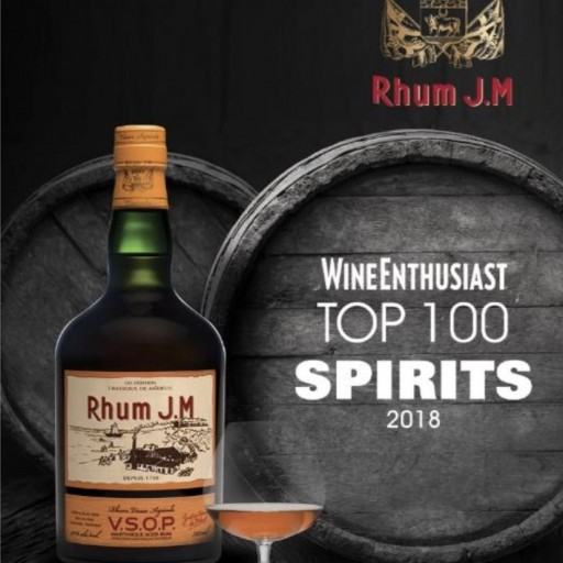 Rhum J.M VSOP Listed in Wine Enthusiast Top 100 Spirits