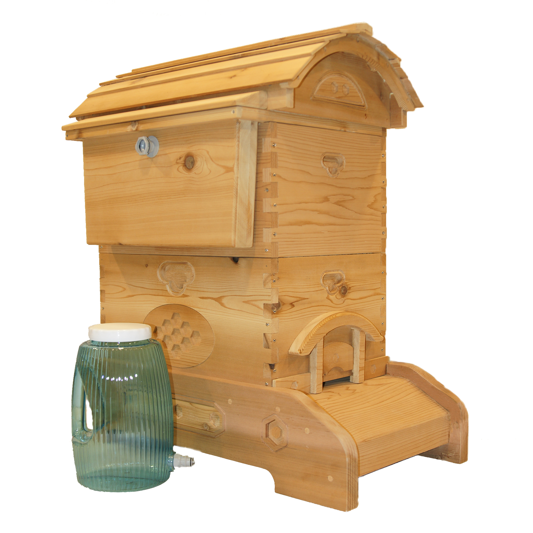 with feeders feeder and honeybees co hartman hb protects frame beehive hive bee news inventive