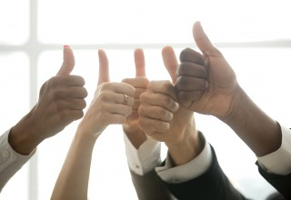 Thumbs Up To Teamwork