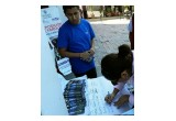 Volunteers in Puebla, Mexico, collect signatures to mandate human rights education.