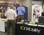 Hamilton Gayden, owner of 101 Mobility of Oakland County, at the Senior Resource Expo.