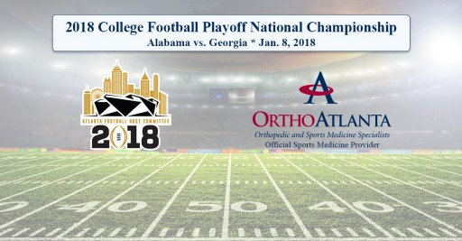 OrthoAtlanta Welcomes Alabama Crimson Tide and Georgia Bulldogs to Atlanta for 2018 College Football Playoff National Championship at Mercedes-Benz Stadium