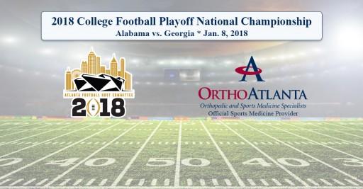 OrthoAtlanta Welcomes Alabama Crimson Tide and Georgia Bulldogs to Atlanta for 2018 College Football Playoff National Championship at Mercedes-Benz Stadium