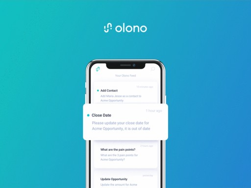 Olono Introduces Mobile Sales Activity Automation for B2B Reps