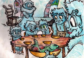 Family Dinner with the Yeti Family