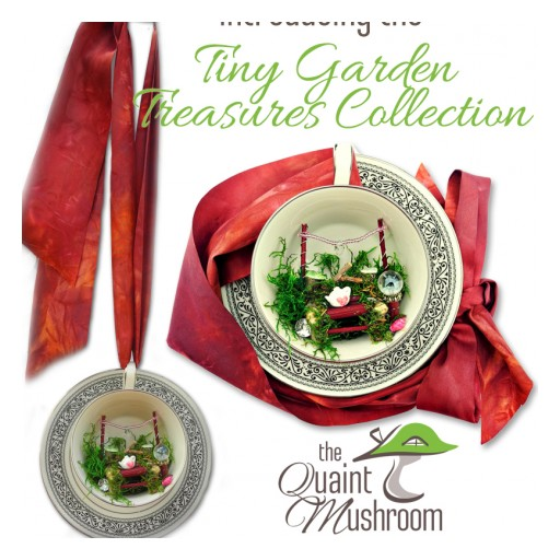 The Quaint Mushroom Inspires a Whole New Trend in Fairy Gardens With the Tiny Garden Treasures Collection.