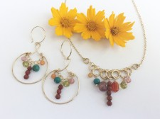 Jubilee Necklace and Earrings in Gold