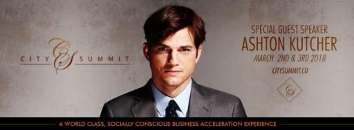 Ashton Kutcher to Headline the 3rd Annual City Summit Held on Hollywood's Biggest Awards Weekend in Support of Startup, Nonprofit Organizations