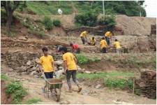 Scientology Volunteer Ministers teams work on construction projects to help their country recover from last year's devastating earthquakes.