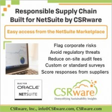 NetSuite and CSRware Responsible Supply Chain