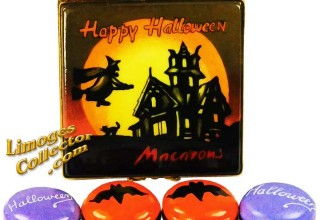 Halloween Haunted House Macarons Limoges Box by Beauchamp Limoges
