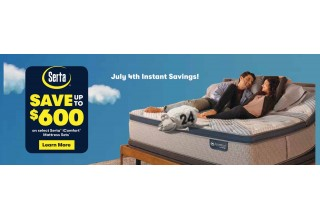 Save up to $600 on Serta iComfort Mattress sets. Come by one of our locations.