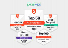 Saleshood Named as Top 25 Best Sales Products of 2021 by G2