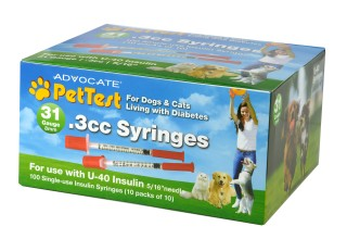 Advocate by Pharma Supply, Inc. to Release PetTest Branded U-40 Syringes for Pet Use