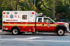 FDNY ambulance with Stealth Power idle reduction technology