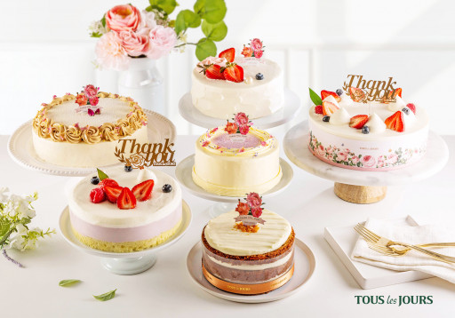TOUS les JOURS Bakery to Launch Mother's Day Seasonal Cakes