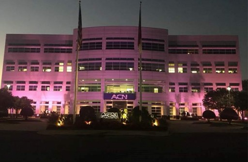 ACN's World Headquarters Turns Pink for Breast Cancer Awareness Month