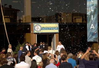 The ribbon fell and those gathered for the ceremony streamed inside, eager to see the new facilities that will make Dianetics and Scientology available to the people of the region.