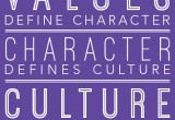 Values, Character & Culture