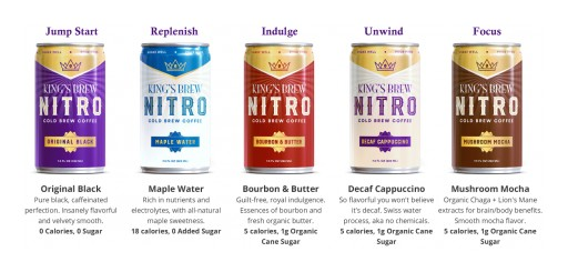 King's Row Coffee Introduces King's Brew -- a Cutting Edge Nitro Cold Brew Coffee Line