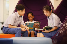 Students at GSF schools in Singapore