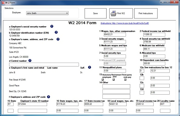 EzW2: DIY W2 1099 Tax Form Software for Small Business