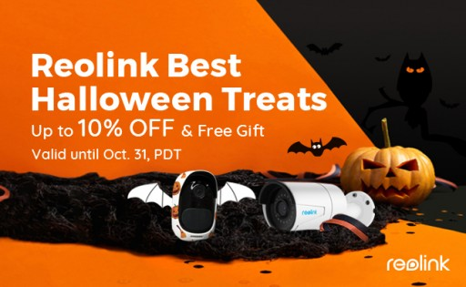 Reolink Launches Best Halloween Treats 2018 — Up to 10% Off on Smart Home Cameras & Free Gift