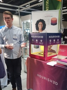 Photograph of the nourish3D 3D printer at the IDTechEx Show! in Berlin 2019