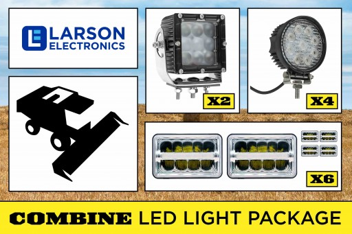 Larson Electronics Releases LED Light Package for Case IH 2388 Combines, 9-42V, IP67 Rated