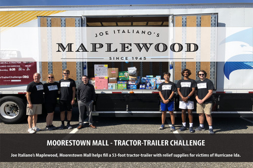 Joe Italiano's Maplewood-Moorestown Mall Donates to Victims of Hurricane Ida