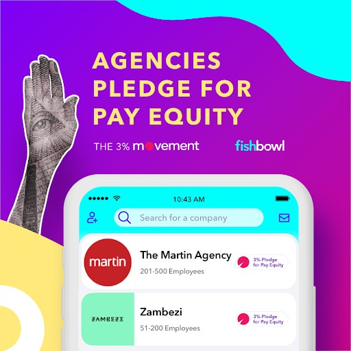 Fishbowl App Teams Up With the 3% Movement on 'Pledge for Pay Equity' Initiative to Raise Awareness for Female Equality in Advertising
