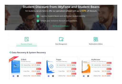 iMyFone Partners With Student Beans to Offer Up to 60% Student Exclusive Discount