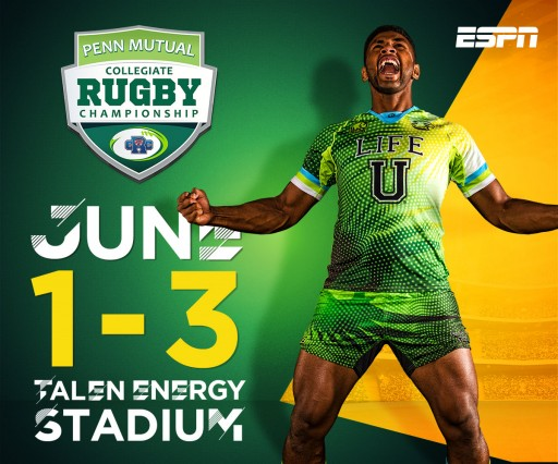 The Nation's Top Collegiate Rugby 7s Teams Are in Philadelphia This Weekend for the 2018 Penn Mutual Collegiate Rugby Championship at Talen Energy Stadium