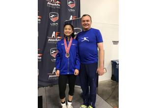 Sabrina Fang and Coach Slava Grigoriev