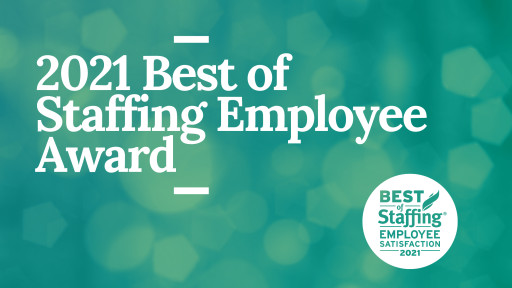 Sparks Group Wins ClearlyRated's 2021 Best of Staffing Employee Award for Service Excellence and Employee Satisfaction