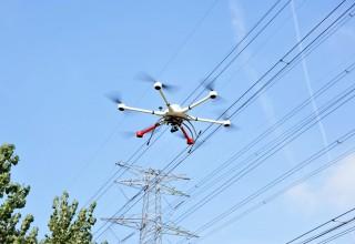 EWZ-D6 Hexrcopter in powerline inspection