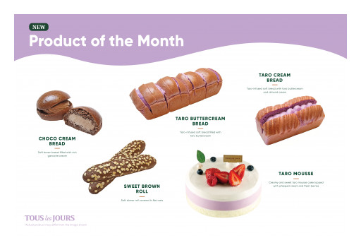 TOUS Les JOURS to Launch Taro Buttercream Bread and More
