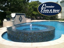 Classic Style Pool with Perimeter Overflow Spa