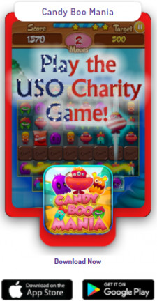 Candy Boo offers USO Charity Fundraiser Game