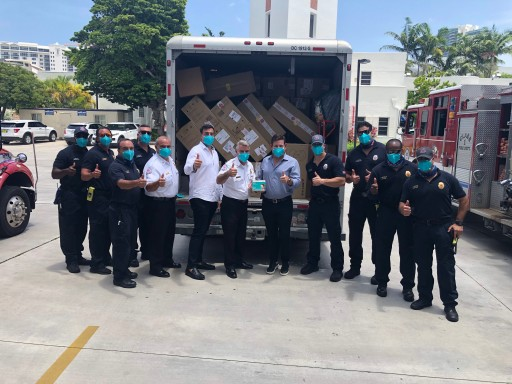 Donation of 100,000 N95 Masks to Miami Beach Front-Line Workers Also Used to Protect Senior Centers and Homeless Community