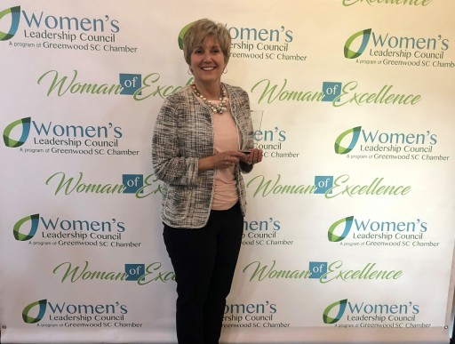 Rossie Corwon Receives Women of Excellence Award From the Women's Leadership Council of Greenwood SC Chamber of Commerce