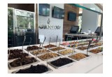 Close-up of Yogurtology Topping Bar