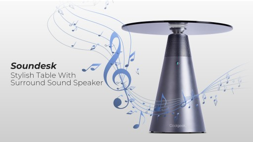 Coolgeek Announces the Launch of Soundesk - a Modern Table With Surround Sound Audio