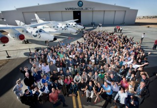 Zainab Azim at Virgin Galactic Hanger in Mojave, CA