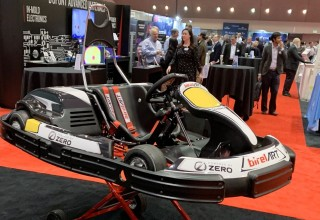 A go-kart with Zero Motorcycles' powertrain