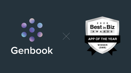 Genbook Wins App of the Year (SMB) in 10th Annual Best in Biz Awards